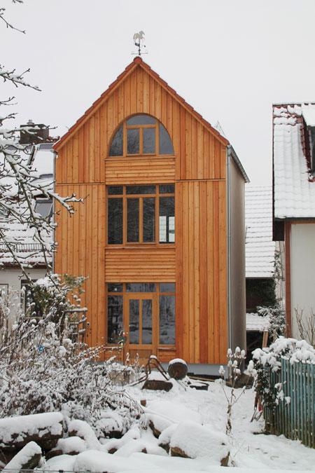 Holzhaus fachwerkhaus anbau in timberframe bauweise for Architekt holzhaus