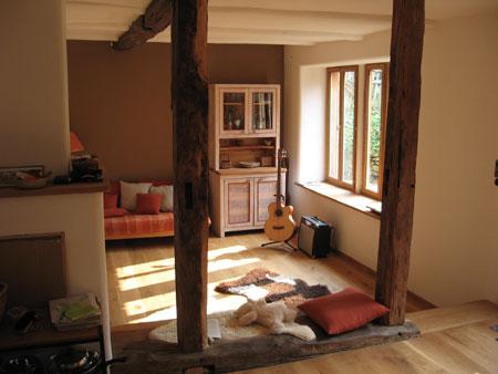 gesundes wohnklima mit lehmputz und holzb den. Black Bedroom Furniture Sets. Home Design Ideas