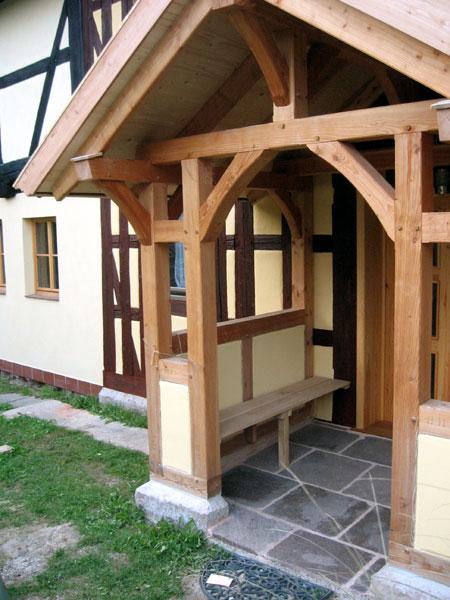 fachwerk vorbau eines bauernhauses. Black Bedroom Furniture Sets. Home Design Ideas