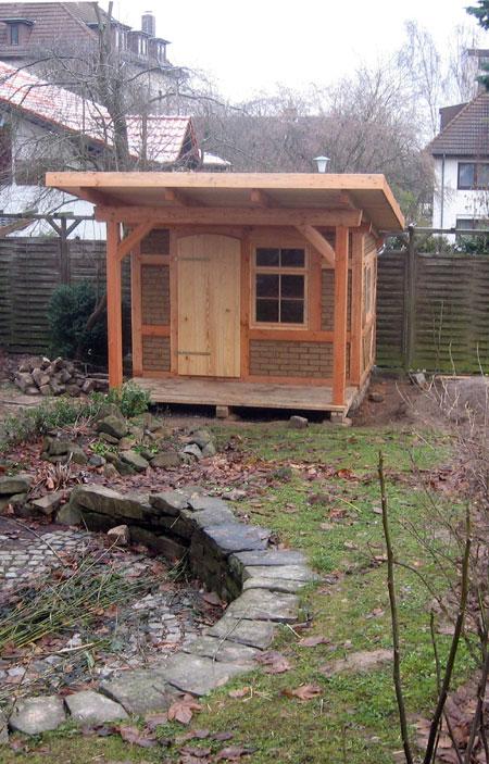 Gut gemocht Gartenhaus aus Fachwerk mit Lehmziegeln in Kassel WX55